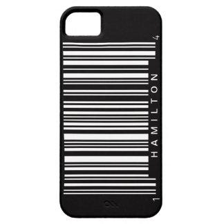 nombre de la clave de barras de las rayas negras iPhone 5 fundas