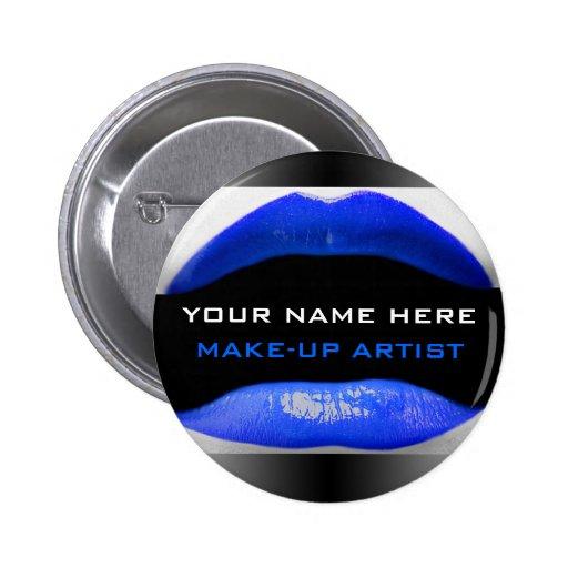 Nombre de la etiqueta para los artistas de maquill pin redondo 5 cm