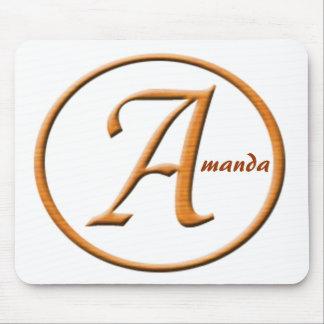 """Nombre de la letra """"A"""" de Monogramed Alfombrilla De Raton"""