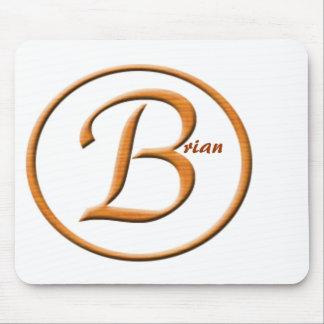 """Nombre de la letra """"B"""" de Monogramed Tapete De Raton"""
