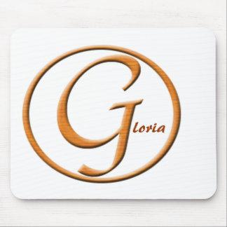 """Nombre de la letra """"G"""" de Monogramed Alfombrilla De Raton"""