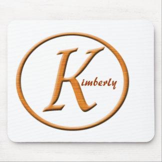 """Nombre de la letra """"K"""" de Monogramed Alfombrilla De Ratón"""