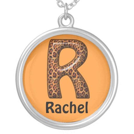 Nombre de la letra R Necklace~Customize del guepar Joyerías