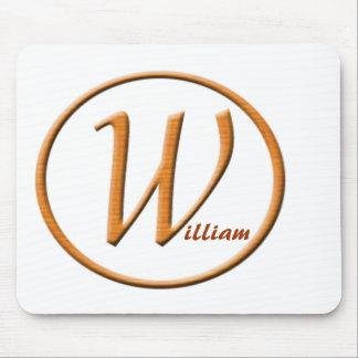 """Nombre de la letra """"W"""" de Monogramed Tapete De Raton"""