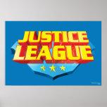 Nombre de la liga de justicia y logotipo del escud impresiones