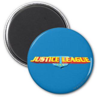 Nombre de la liga de justicia y logotipo finos del iman de frigorífico
