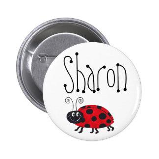 Nombre de la mariquita - botón pin redondo de 2 pulgadas