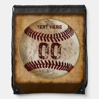 NOMBRE de la mochila del lazo del béisbol y NÚMERO