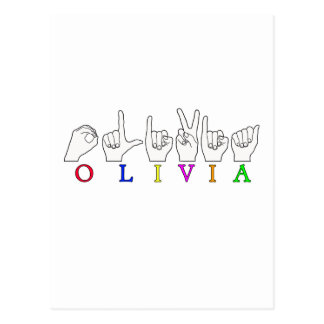 NOMBRE DE LA MUESTRA DE OLIVIA ASL FINGERSPELLED POSTALES