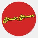 Nombre de la Mujer Maravilla Pegatina Redonda