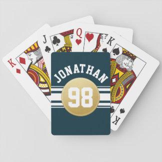 Nombre de las rayas del jersey de los deportes de barajas de cartas