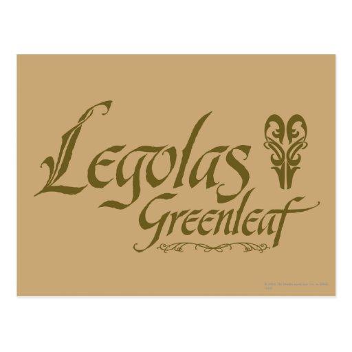 Nombre de LEGOLAS GREENLEAF™ Tarjetas Postales