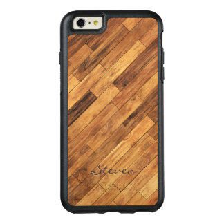 Nombre de madera personalizado del monograma del funda otterbox para iPhone 6/6s plus