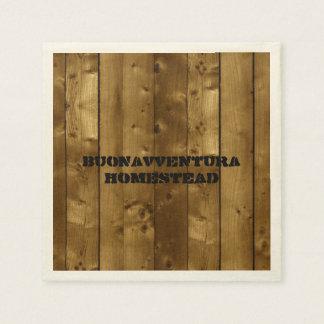 Nombre de madera rústico del personalizable de los servilleta desechable
