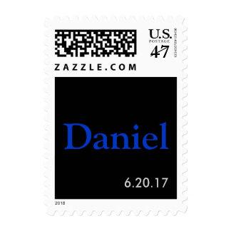 Nombre de Mitzvah de la barra y sello de fecha de