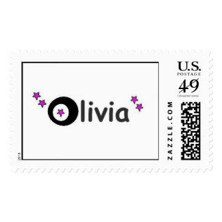nombre de Olivia en sellos
