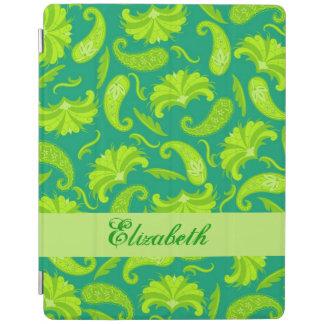 Nombre de Paisley del verde esmeralda de la cal Cubierta De iPad
