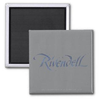 Nombre de Rivendell texturizado Imanes