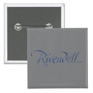 Nombre de Rivendell texturizado Pins