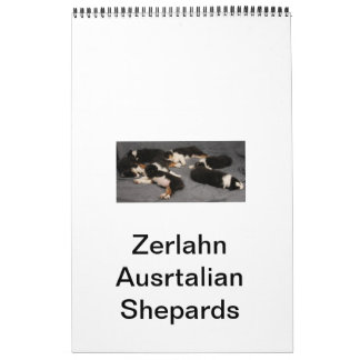Nombre de Shepards del australiano         de Calendario De Pared