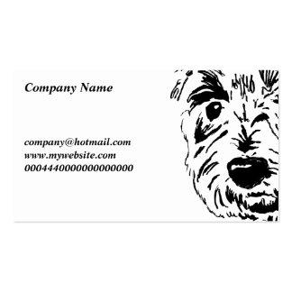 Nombre de Terrier Face Company Tarjeta De Visita
