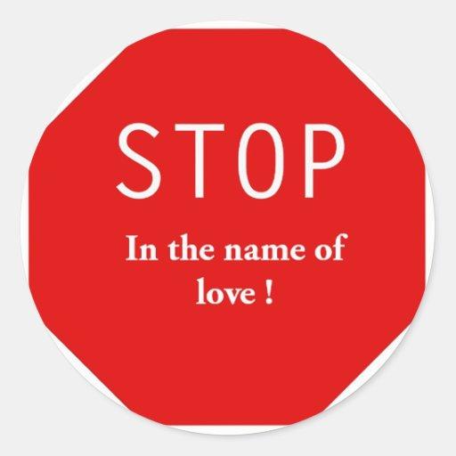 Nombre del amor etiqueta