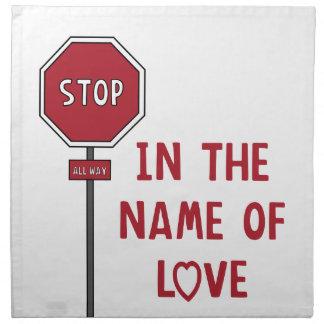 Nombre del amor servilleta de papel