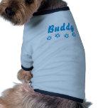 Nombre del animal de compañía azul adaptable de la ropa para mascota