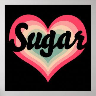 Nombre del animal de compañía del azúcar póster