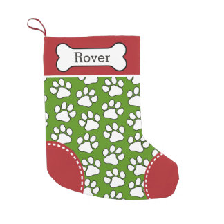 Nombre del animal de compañía lindo del calcetín de navidad pequeño