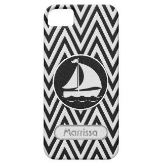 Nombre del barco de vela de la mirada de la tela iPhone 5 carcasa