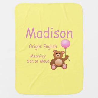 Nombre del bebé de Madison Mantas De Bebé