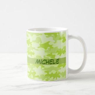 Nombre del camuflaje de Camo de la verde lima Taza De Café