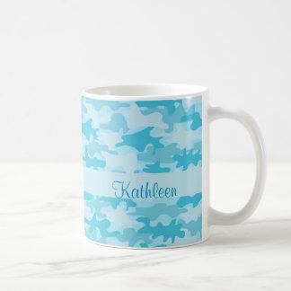Nombre del camuflaje de Camo de las azules Tazas De Café