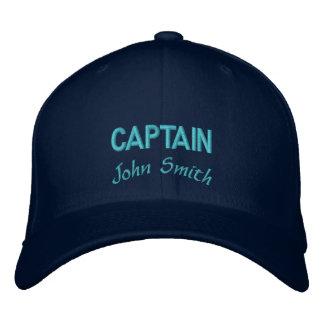 Nombre del capitán personalizado gorras bordadas