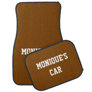 Nombre del color sólido del regalo del chocolate alfombrilla de auto