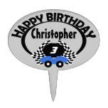 Nombre del cumpleaños del coche de carreras figura de tarta