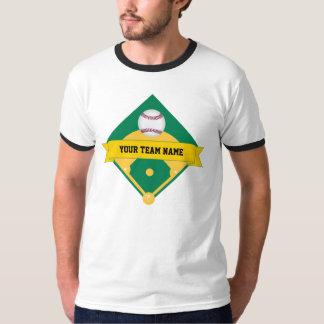 Nombre del equipo de béisbol con la parte camisas