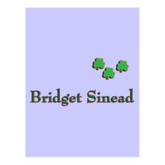 Nombre del irlandés de Bridget Sinead Tarjetas Postales