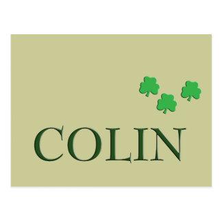 Nombre del irlandés de Colin Postales