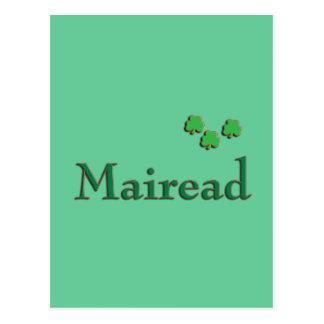 Nombre del irlandés de Mairead Tarjeta Postal