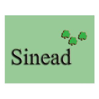 Nombre del irlandés de Sinead Tarjeta Postal