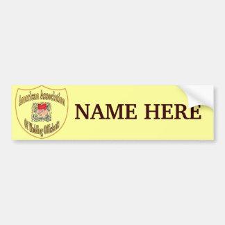 Nombre del logotipo del miembro de AAWO Pegatina Para Auto