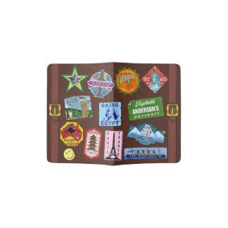 Nombre del pegatina de la maleta del World Travel Porta Pasaportes