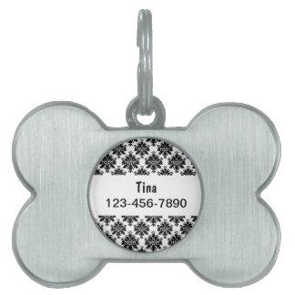 Nombre del perro de las etiquetas de perro casero placa de mascota