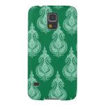 Nombre del personalizable de Paisley del verde Funda Para Galaxy S5