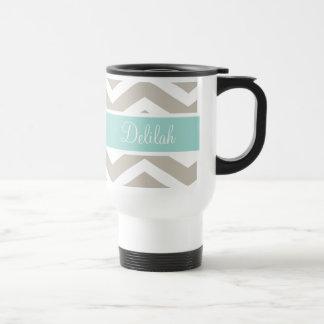 Nombre del personalizado de Chevron del trullo del Taza De Café