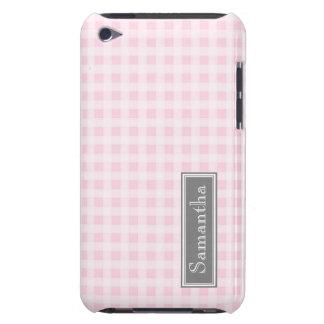 nombre del personalizado de la guinga del rosa del iPod Case-Mate cobertura