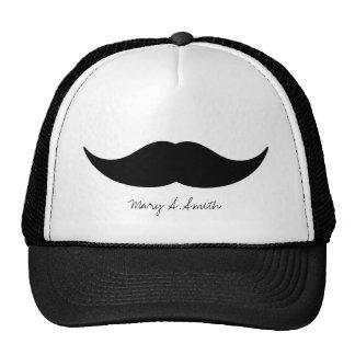 Nombre del personalizado del bigote gorros