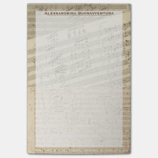 Nombre del personalizado del relevo del manuscrito notas post-it